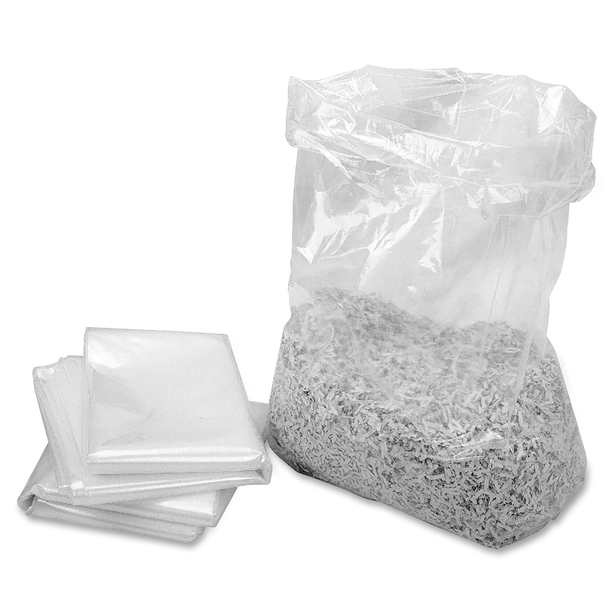 HSM, HSM2117, 58 Gallon Shredder Bags, 100 / Roll, Clear, 58 gal