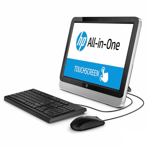 "HP 19.45"" LED touch screen All-in-One Desktop PC with AMD E1-2500 Processor, 4GB Memory, 500GB Hard Drive and Windows 8.1  (Free Windows 10 Upgrade before July 29, 2016)"