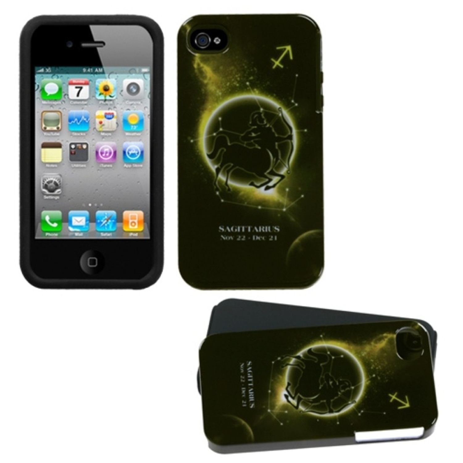 Insten Sagittarius Horoscope Collection Fusion Case For iPhone 4/4S