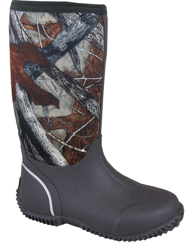 Smoky Mountain Boys' Amphibian Camo Waterproof Boot - 2735C