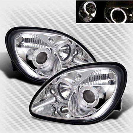 1998-2004 Mercedes Benz R170 SLK Dual Halo Projector Headlights Set Head Lights Pair Left+Right 1999 2000 2001 2002 2003