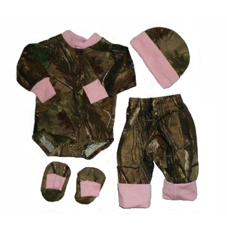 e9ecb2b5d2de3 Realtree - Realtree AP Camo with Pink Accents 4pc Baby Bodysuit ...