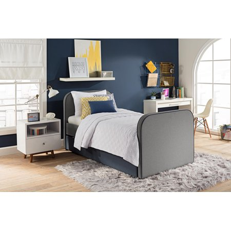 Dhp Jesse Linen Upholstered Bed With Trundle Twin Size