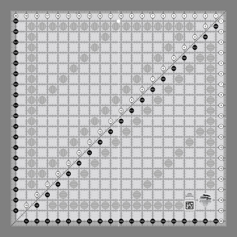"Creative Grids 20 1/2"" Square Ruler"