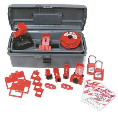 Portable Lockout Kit,Electrical,18 BRADY 99307