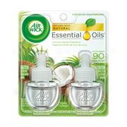 Air Wick Scented Oil 2 Refills, Coconut Splash, (2X0.67oz), Air Freshener