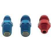 Fragola Performance Systems 481606-BL #6 X 1/4 MPT, STRAIGHT ADAPTER  BLACK