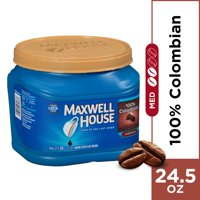(2 Pack) Maxwell House 100% Colombian Ground Coffee, 24.5 oz Canister