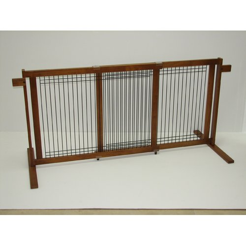 Crown Pet Products Tall Freestanding Wood & Wire Pet Gate