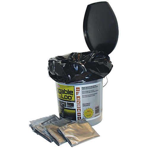 Reliance Products Luggable Loo Portable chemical Toilet with 12 Double Doodie bags