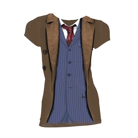 Doctor Who Classic Womens T-Shirt 10Th Doctor Costume](Bts Halloween Lyrics)