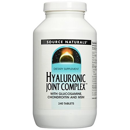 Source Naturals Hyaluronic Joint Complex with Glucosamine Supplement, Chondroitin and MSM, 240 Count