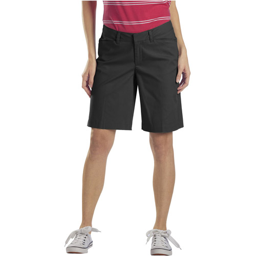 """Dickies - Womens Relaxed Stretch Twill 10"""" Bermuda Short"""