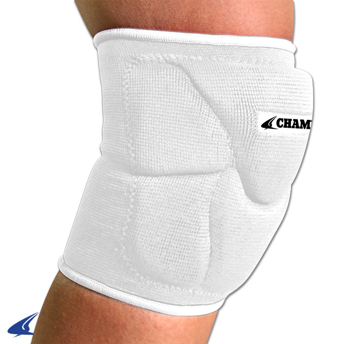 CHAMPRO Pro-Plus Low Profile Volleyball Knee Pad Large White