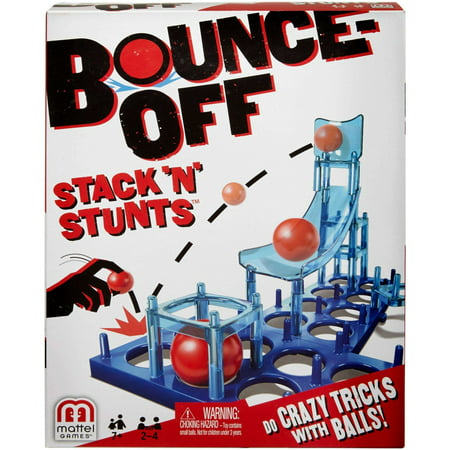Bounce-Off Stack 'N' Stunts Game for 2-4 Players Ages - Sandwich Stacking Games