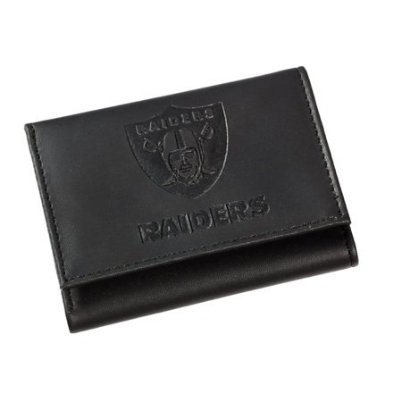 Leather Oakland Raiders Tri-fold Wallet (Oakland Raiders Pumpkin Stencil)