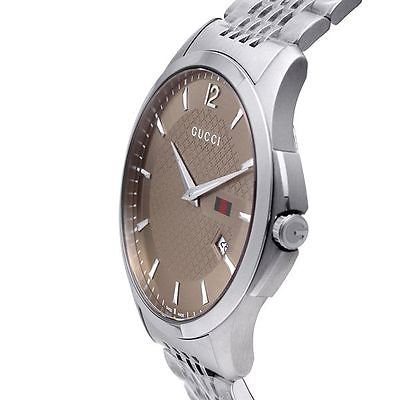 6a0b13b2277 Gucci - G-Timeless Brown Dial Stainless Steel Mens Watch YA126310 -  Walmart.com