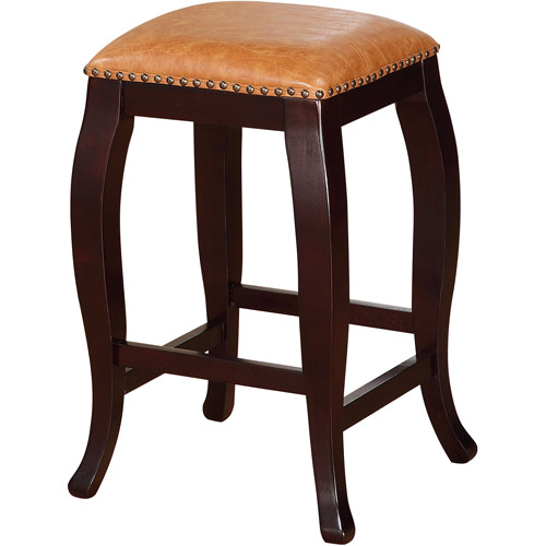 Linon San Francisco Counter Stool, Caramel, 24 inch Seat Height