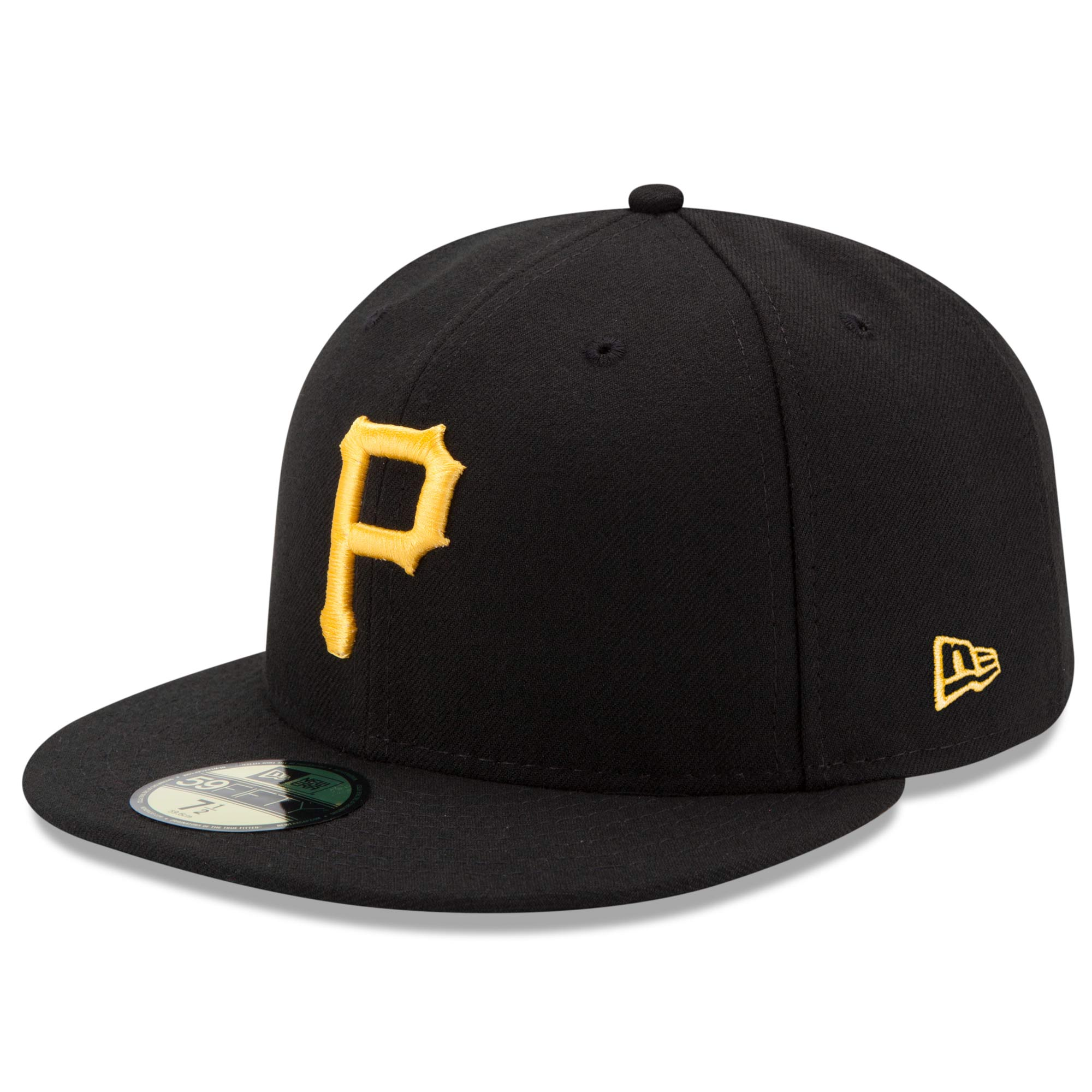 new era mens pittsburgh pirates black game authentic collection on-field 59fifty fitted hat, black/red, 7 3/4