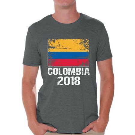 Ac Milan Soccer Shirts - Awkward Styles Colombia 2018 Soccer Shirt for Men Men's Colombian Flag Shirts