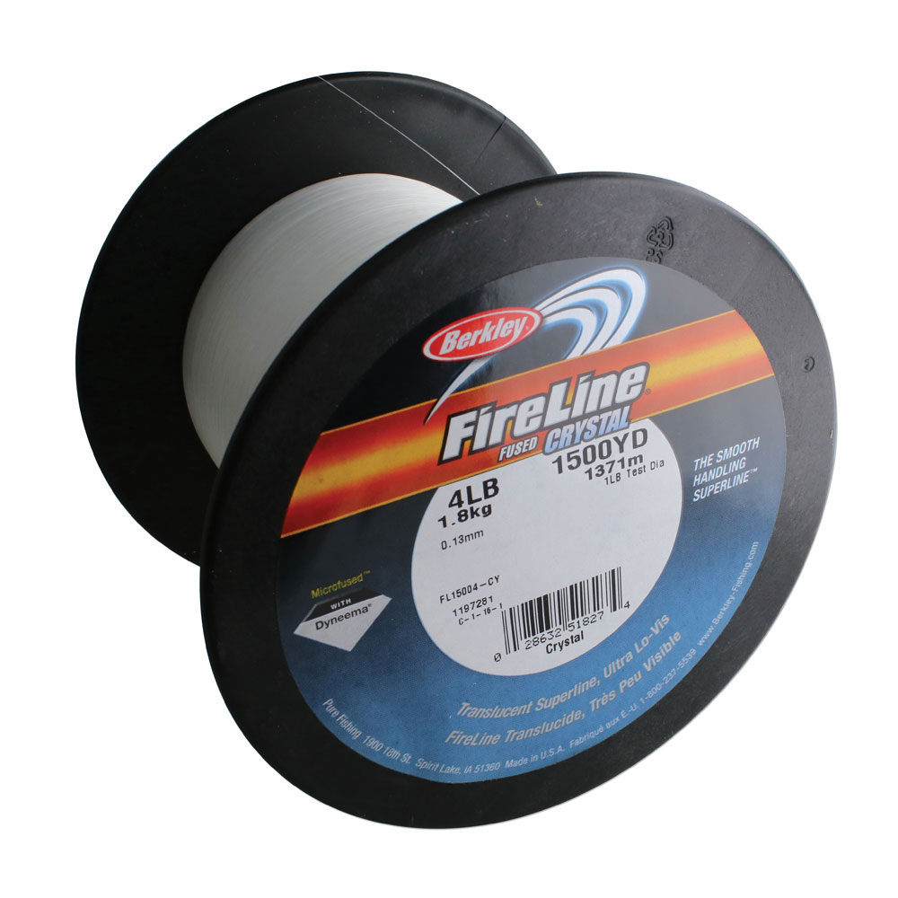 Fireline Braided Beading Thread, 4lb Test and 0.005 Inch Thick, 1500 Yard Bulk Spool, Crystal Clear