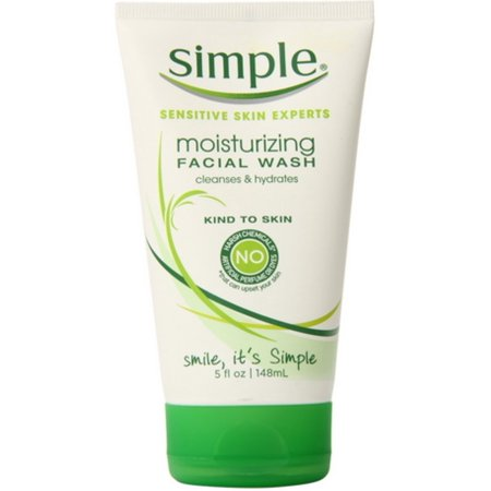 Simple Moisturizing Facial Wash 5 Oz  Pack Of 2