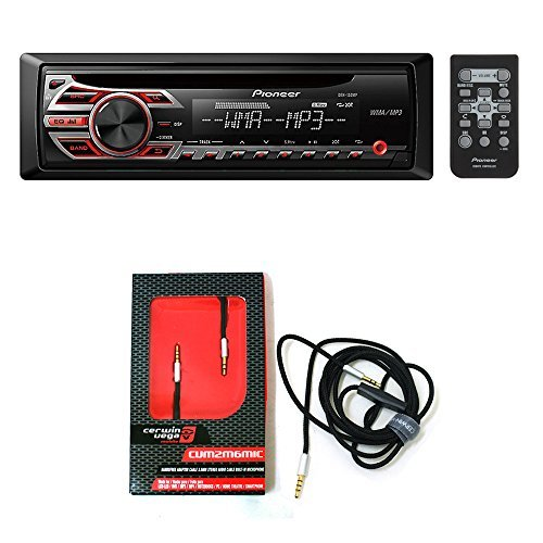 Pioneer DEH-150MP CD receiver with CVM2M6MIC Audio Video Cable with Built in Microphone