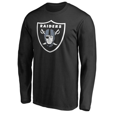 Oakland Raiders NFL Pro Line Primary Logo Long Sleeve T-Shirt -