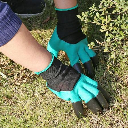 Garden Gloves Fingertips Claws Planting Gloves Quick Easy to Dig and Plant Safe Gloves Full Finger Mittens Digging Gloves - image 3 de 6