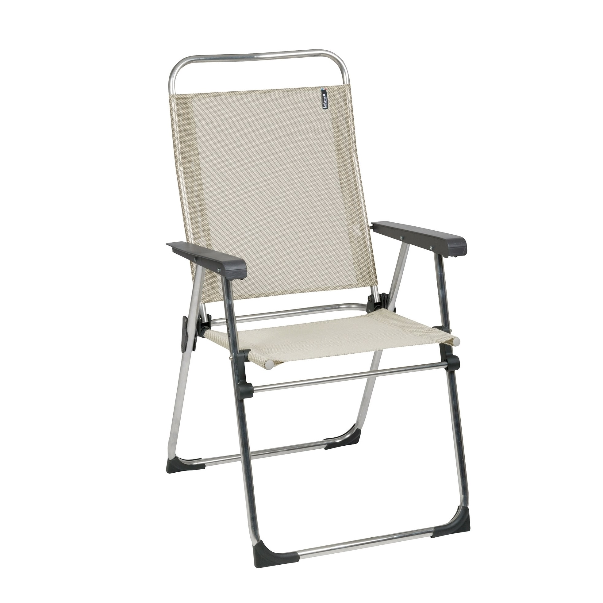 Lafuma Victoria Alu brut Aluminum Frame Folding Chair with Seigle Batyline Fabric (Set of 6) by Overstock