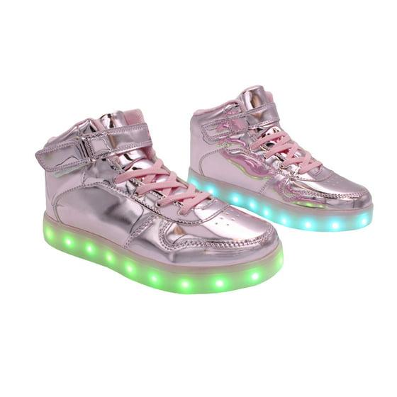 ea5e21ee7810e Galaxy Shoes - Galaxy LED Shoes Light Up USB Charging High Top Strap ...