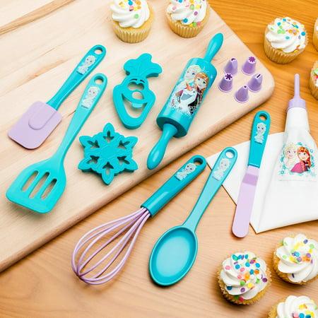 Zak Designs FZNN-S080 Disneys Frozen Elsa 2 Piece Kids Baking Set, Decorated