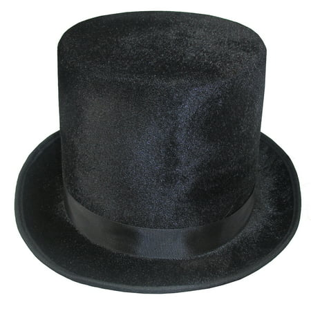 Velvet Top Hat Dickens Victorian Roaring 20s Formal Magician Costume Accessory (Roaring 20s Dress)