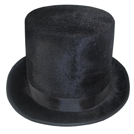 Velvet Top Hat Dickens Victorian Roaring 20s Formal Magician Costume Accessory