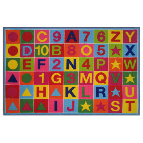 Fun Rugs Fun Time Alphanumeric Fun Area Rug