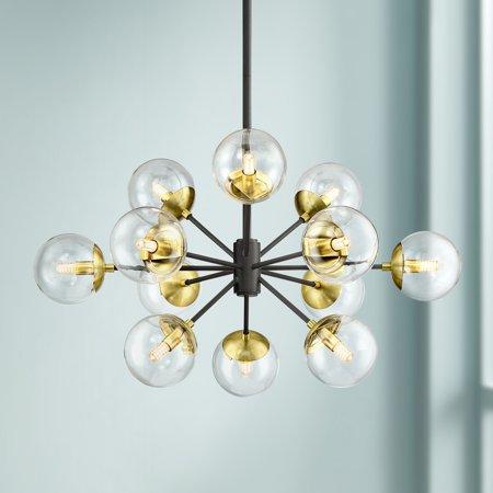 Possini Euro Design Black Gold Sputnik Chandelier 30 1/2