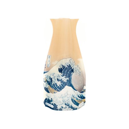 Modgy Plastic Expandable Vases - Stained Glass Design Flower Holders - BPA-Free Home, Office, Event - Great - Wave Tall Vase