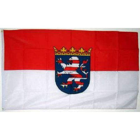 German State Flag - 3x5 Hesse Hessen Germany Flag German State Banner Pennant 3x5 Ft Indoor Outdoor