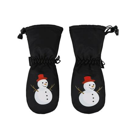 ANDORRA Boys Premium Weather-proof Thinsulate Snow Mittens, Snowman - Happy Halloween Mittens Lola M Schaefer