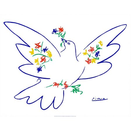 Dove of Peace Art Print By Pablo Picasso - 28x22