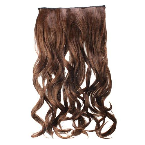 "AGPtek 24""Full head clip in Synthetic hair extensions human made hair-light brown"