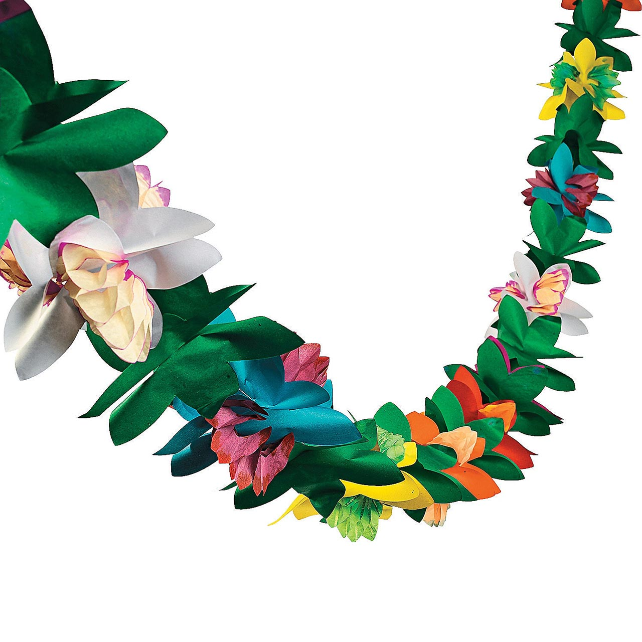 9 Ft Tissue Flower Garland Hawaiian Luau Party Decoration