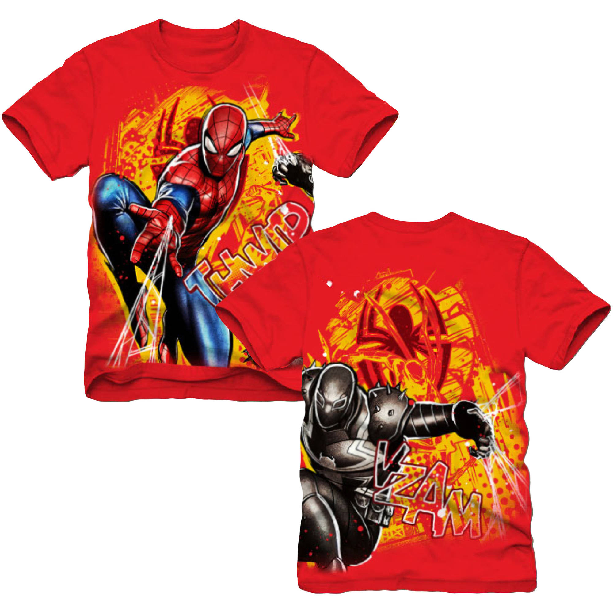 Marvel Spiderman Double Sided Boys Short Sleeve Graphic Tee