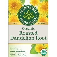 Traditional Medicinals, Organic Roasted Dandelion Root, Tea Bags, 16 Count