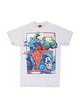 8c2f3882d354b Product Image The Avengers Marvel Team Up Rag Nog Silver T-Shirt