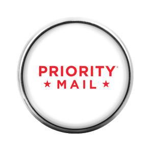 Priority Us Mail Post Office  18Mm Glass Dome Candy Snap Charm Gd0045