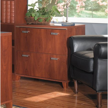 Bush Furniture Tuxedo Lateral File Cabinet in Hansen Cherry
