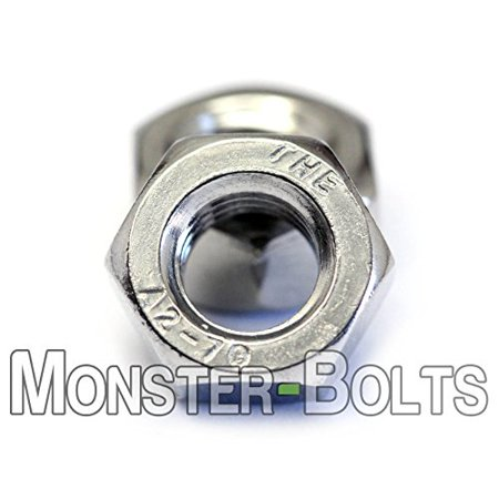 (25) M8 - 1 25 Metric Stainless Steel Hex Nuts DIN 934 - Coarse A2 / 18-8 -  MonsterBolts (25, M8-1 25)