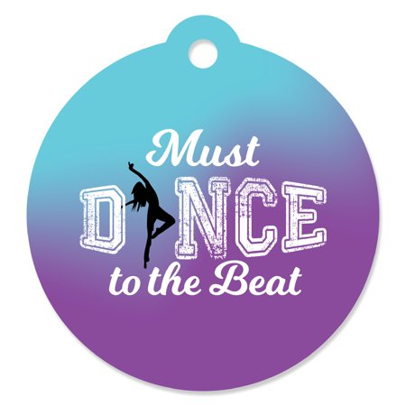 (Must Dance to the Beat - Dance - Birthday Party or Dance Party Favor Gift Tags (Set of 20))
