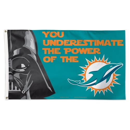 Miami Dolphins Official NFL 3' x 5' Star Wars Darth Vader Banner Flag by Wincraft